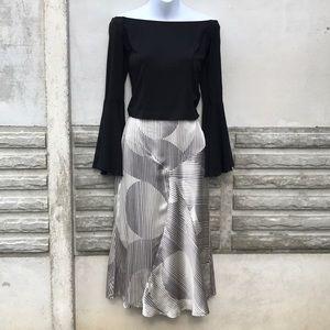 NWOT Op-Art Silk Skirt